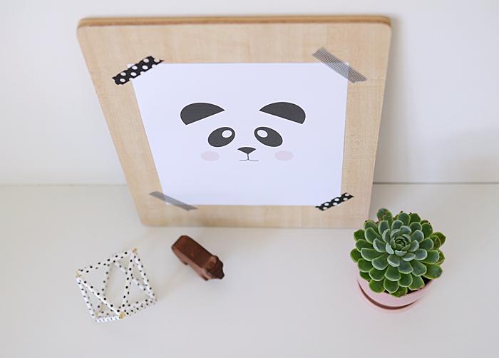 free printable panda art
